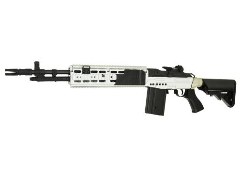Airsoft Rifle Gun AEG CM032 EBR M14 Metal Silver Color ... M14 Ebr Silver