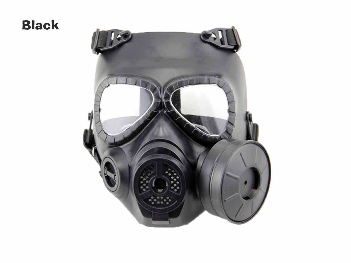 AOLS Gas Mask One-pot With Adjustable Strap for Wargame&Airsft