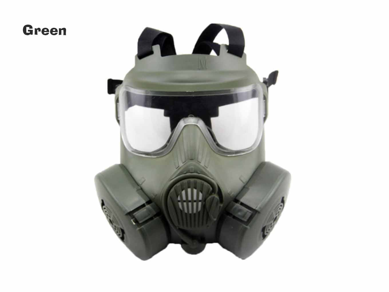 AOLS Gas Mask M50 with 2 Breathable Fans for Painball & Airsoft