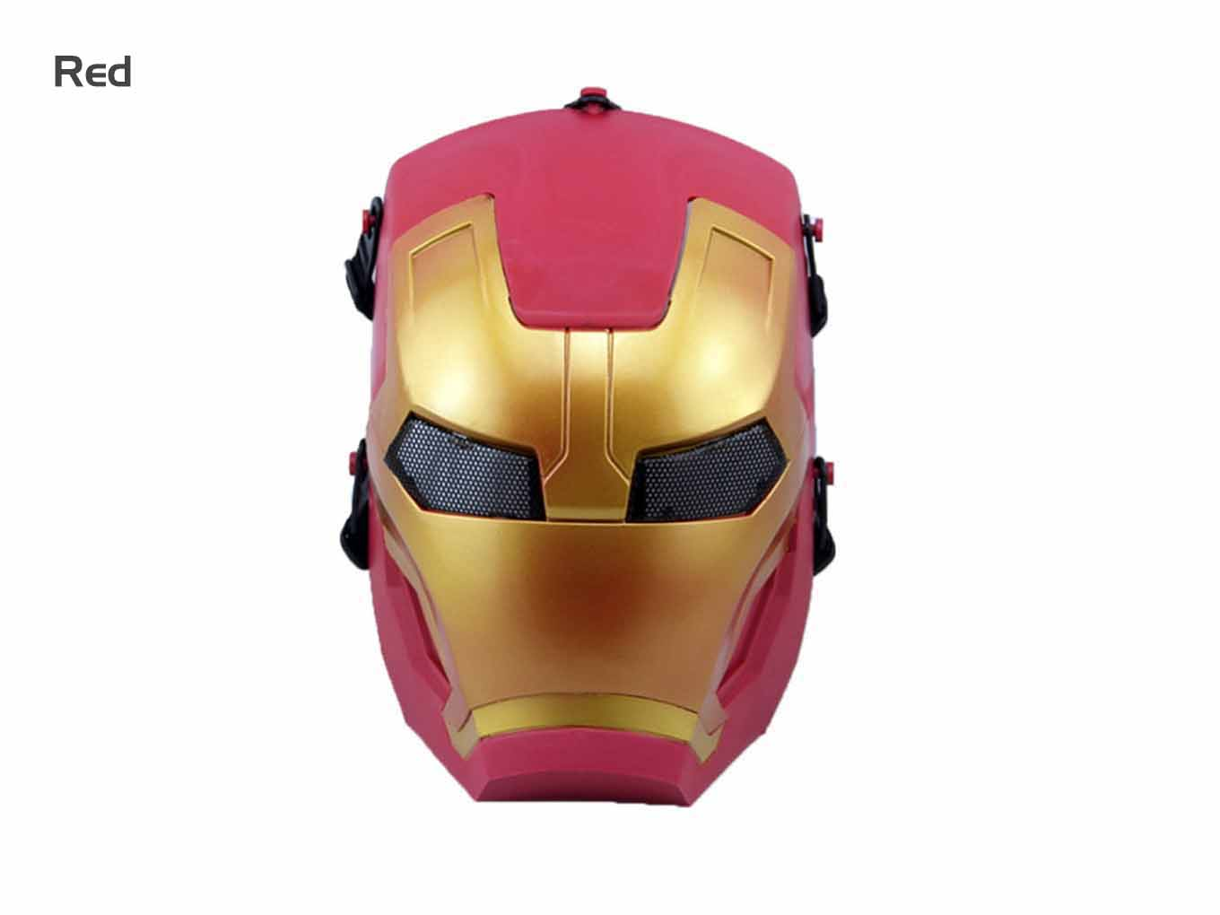 AOLS Face Mask Iron-Man Full Face for Paintball & Airsoft