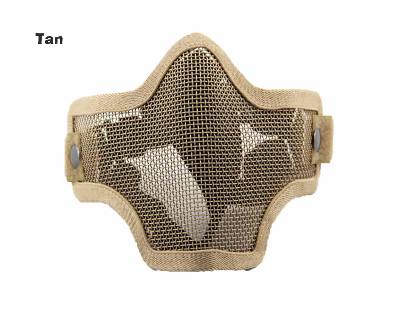 AOLS Mask Steel Mesh Lower Half Face For Paintball & Airsoft