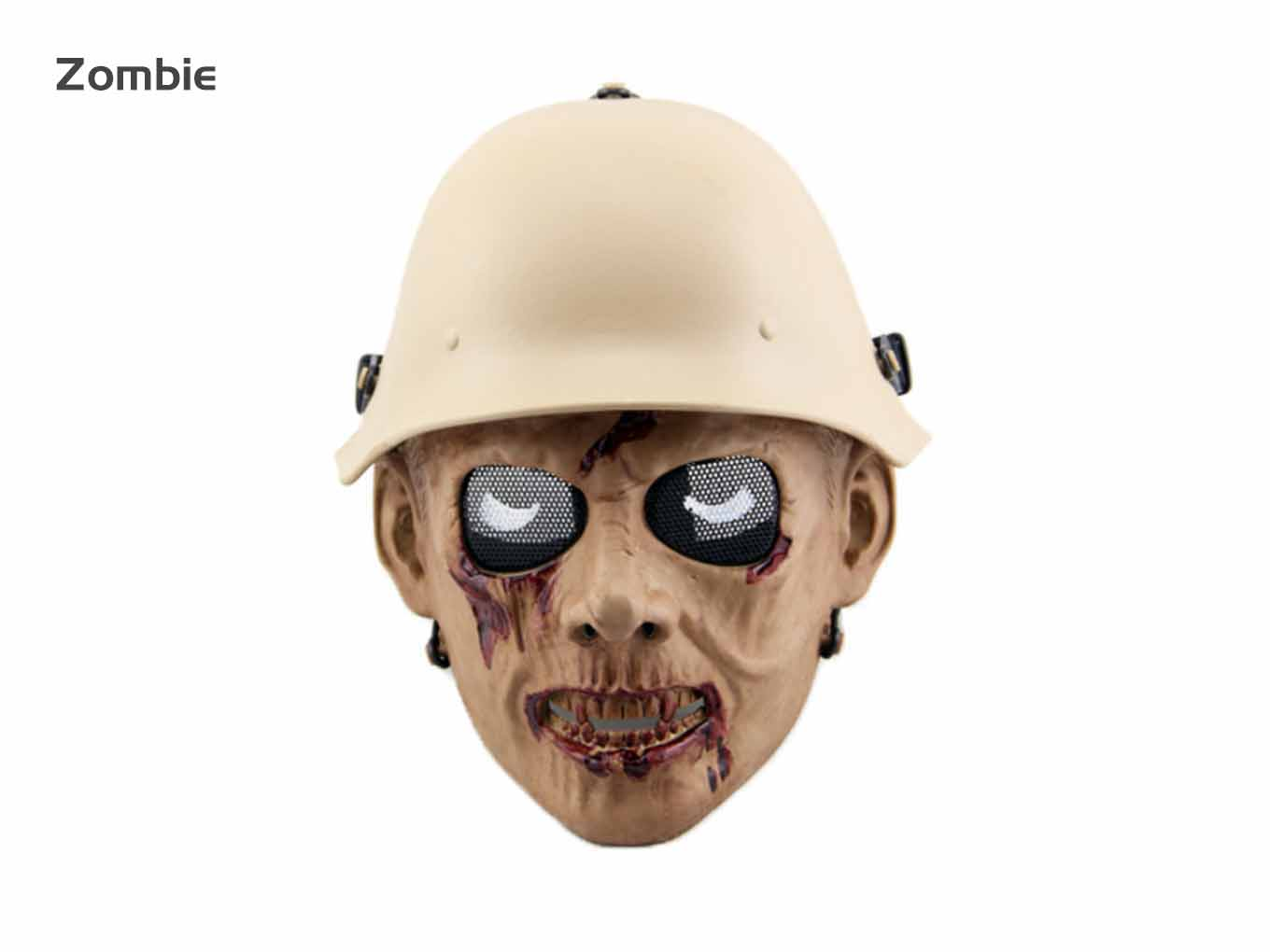 AOLS Face Mask Zombie Army Full Face for Paintball & Airsoft