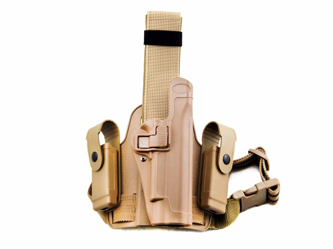 AOLS Tactical Leg Holster (CQC) For G1911 Single Belt Right Hand
