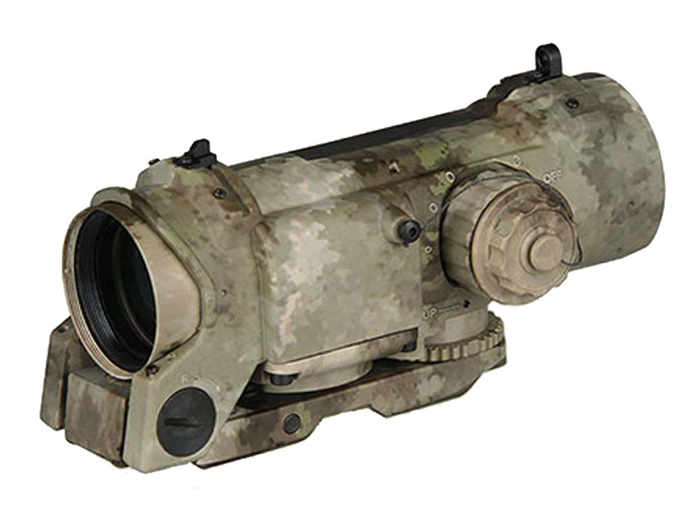 Canis Latrans 4X fixed optical dual role scope camo version Tan