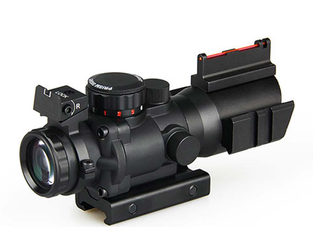 Canis latrans 4X scope with fiber SNIPER / AIM