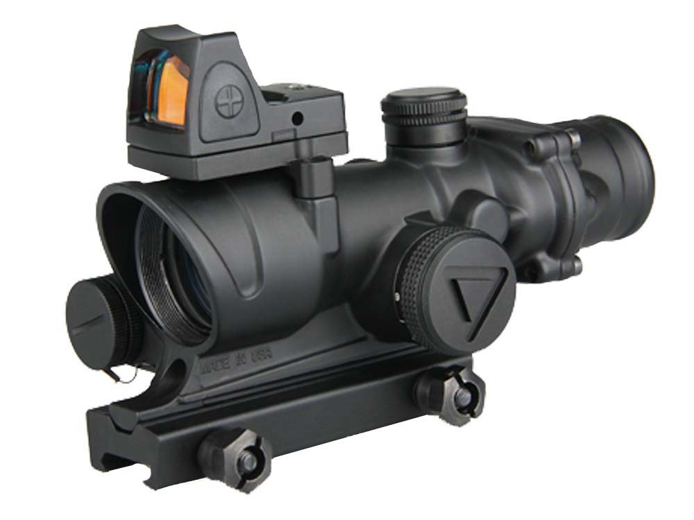 Canis Latrans ACOG 4x32 LED Scope with mini red dot scope