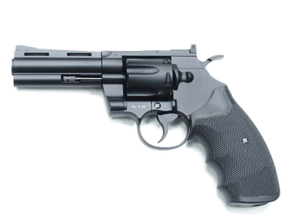 KWC 357 4Inch Revolver KWC-67DHN 6mm CO2 Pistol Black