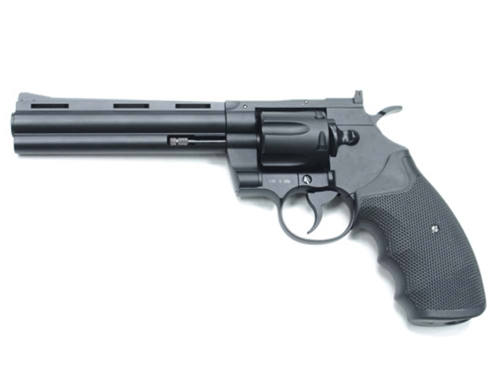 KWC 357 Revolver 6Inch KWC-68 4.5mm CO2 Pistol Black