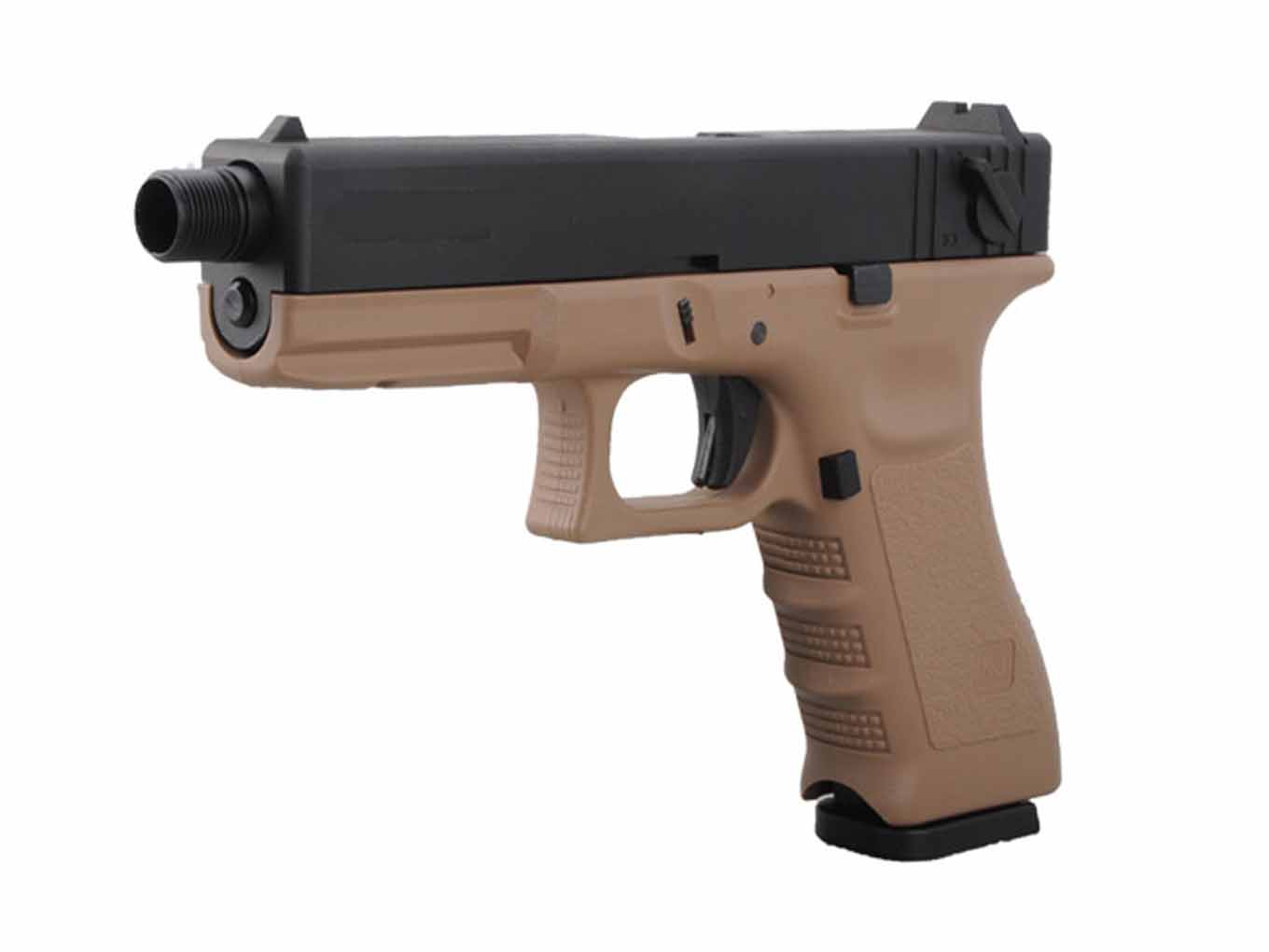 KJW KP-18 Metal Slide Tactical CO2 GBB Pistol Tan