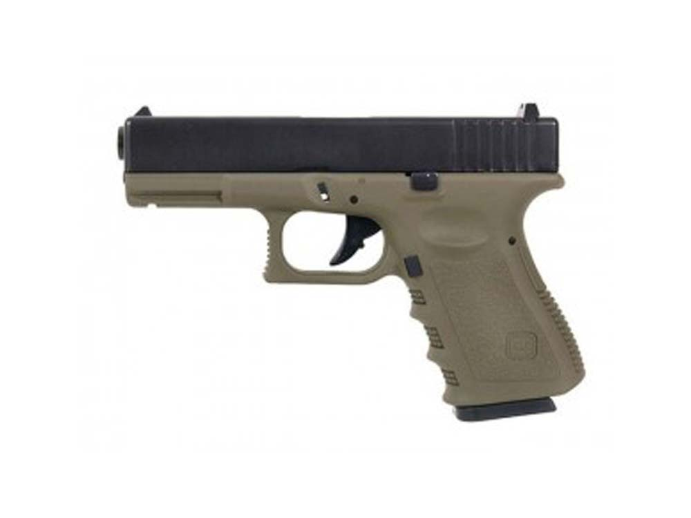 KJW G23-MS Gas Metal Slide OD Green Glock GBB Airsoft Pistol