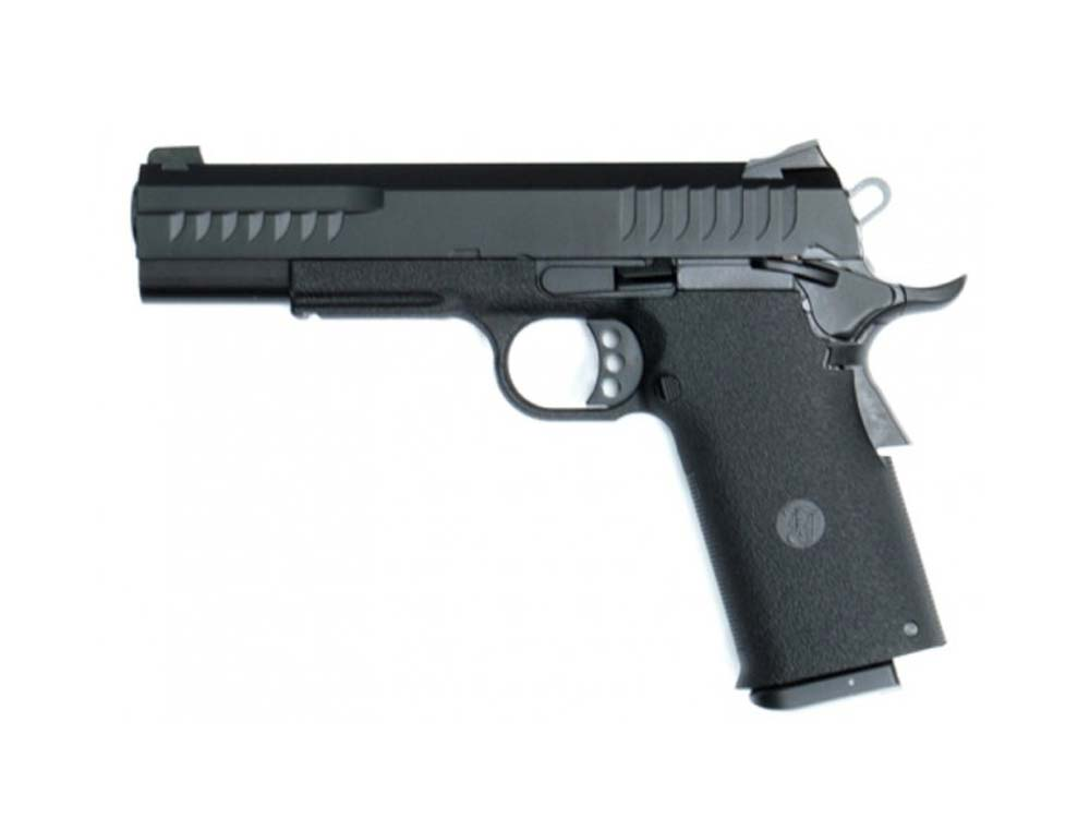 KJW Gas Metal Slide KP-08 6mm Blow Black Airsoft Pistol