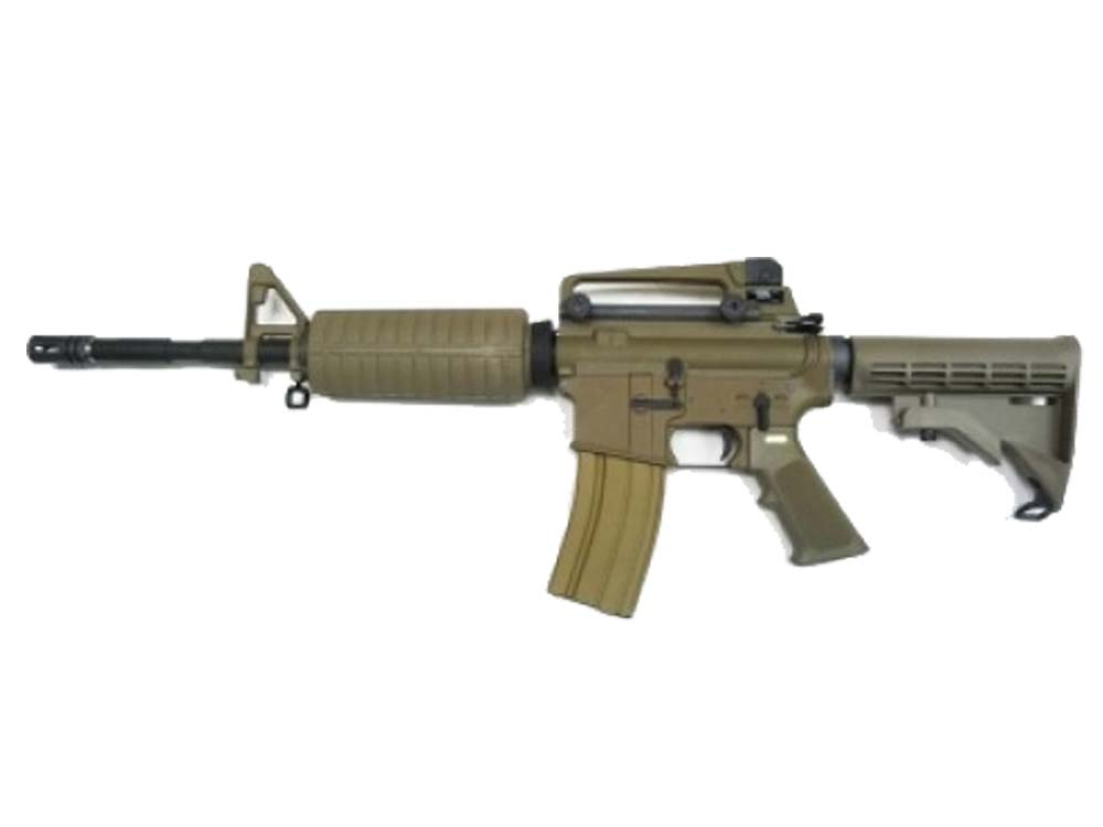 WE M4A1 Gas Blow Back Open-Bolt GBB Airsoft Rifle (TAN;Marking)
