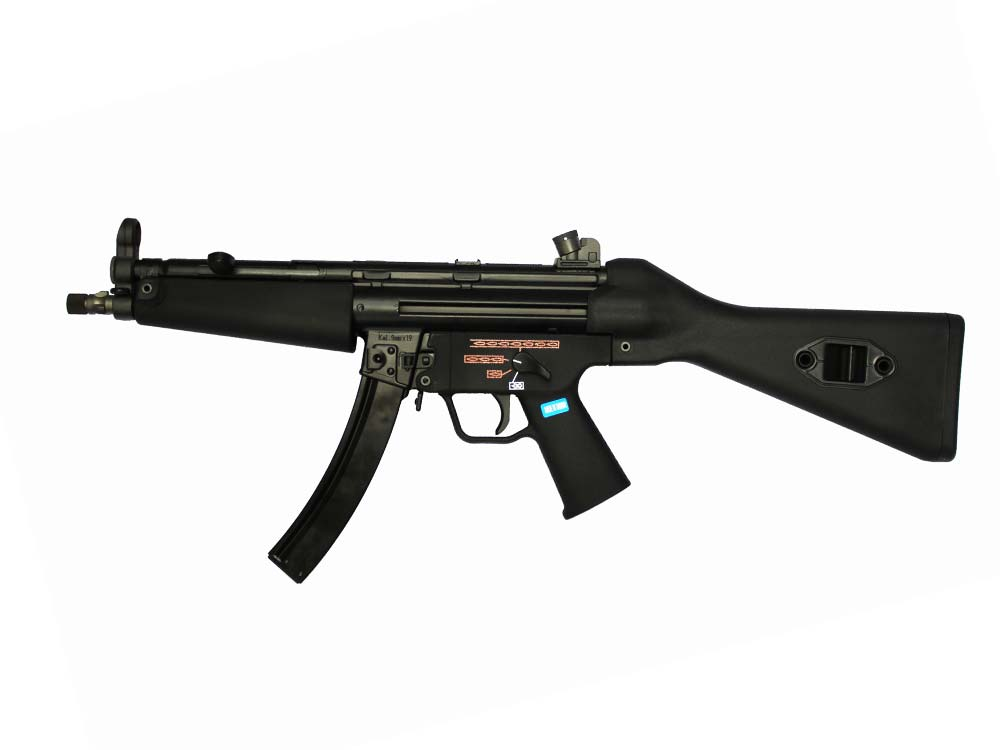 WE Stamped Steel Frame APACHE A2 SMG GBB Black