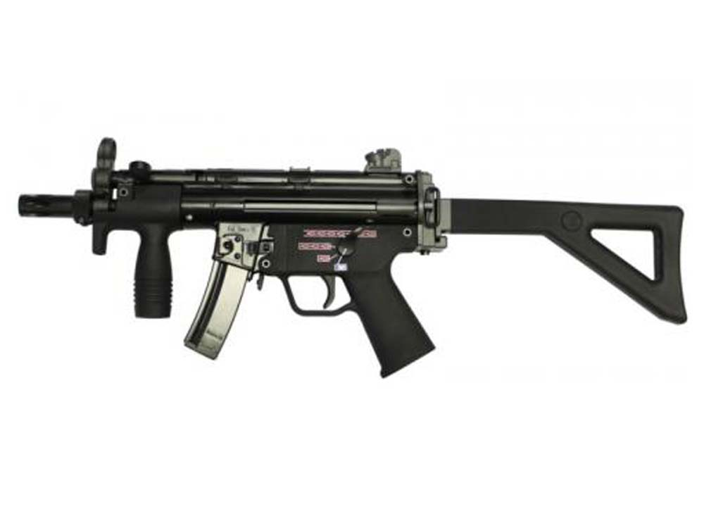 WE Stamped Steel Frame APACHE M5K PDW SMG GBB Black