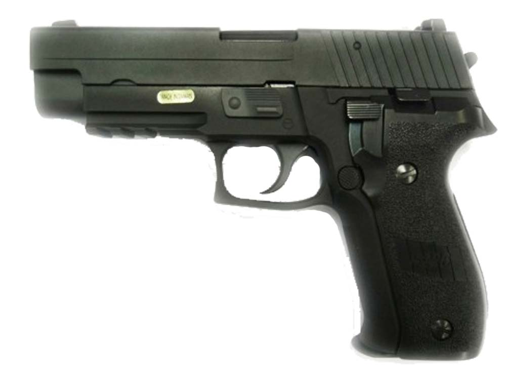 WE Full Metal Tactical F226 MK25 Rail GBB Pistol Black