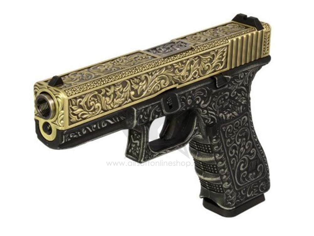 We G17a Gen3 Etched Ivory 6mm Gas Blow Back Airsoft Pistol