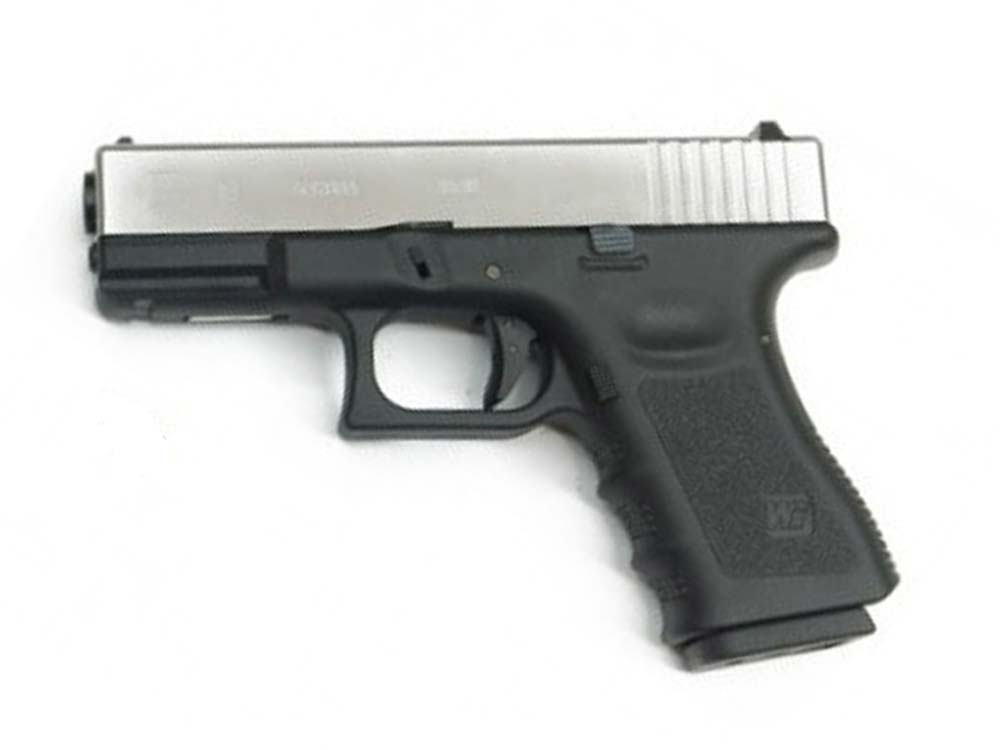WE G19A Gen3 Silver Slide Metal 6mm Gas Blow Back Airsoft Pistol