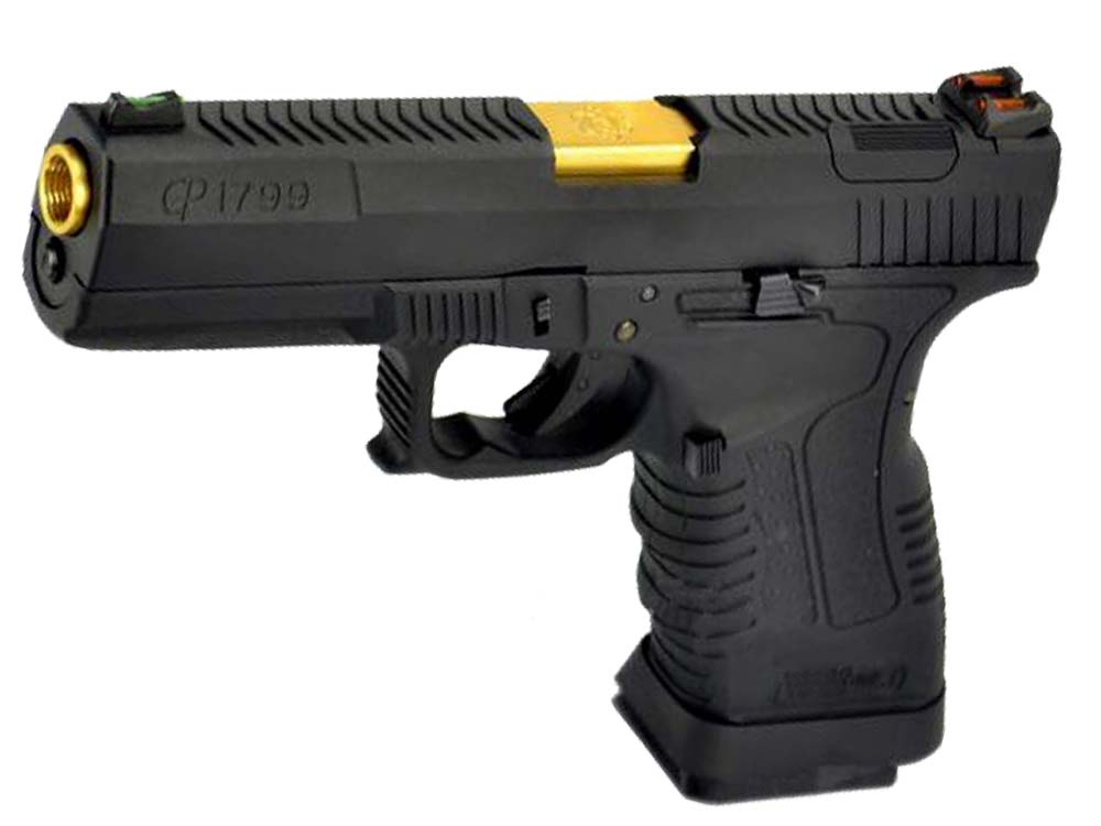 WE GP1799 GBB Pistol Black Slide,Black Frame,Gold Barrel