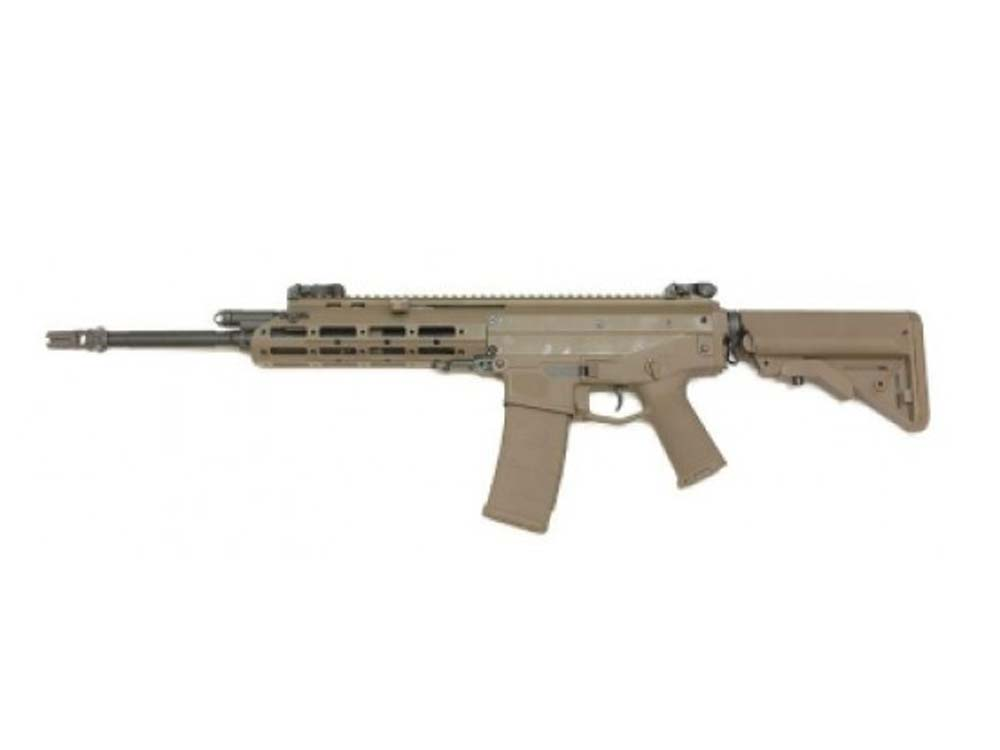 WE Tech MSK Modular RIS Airsoft Gas Blowback GBBR Rifle - TAN