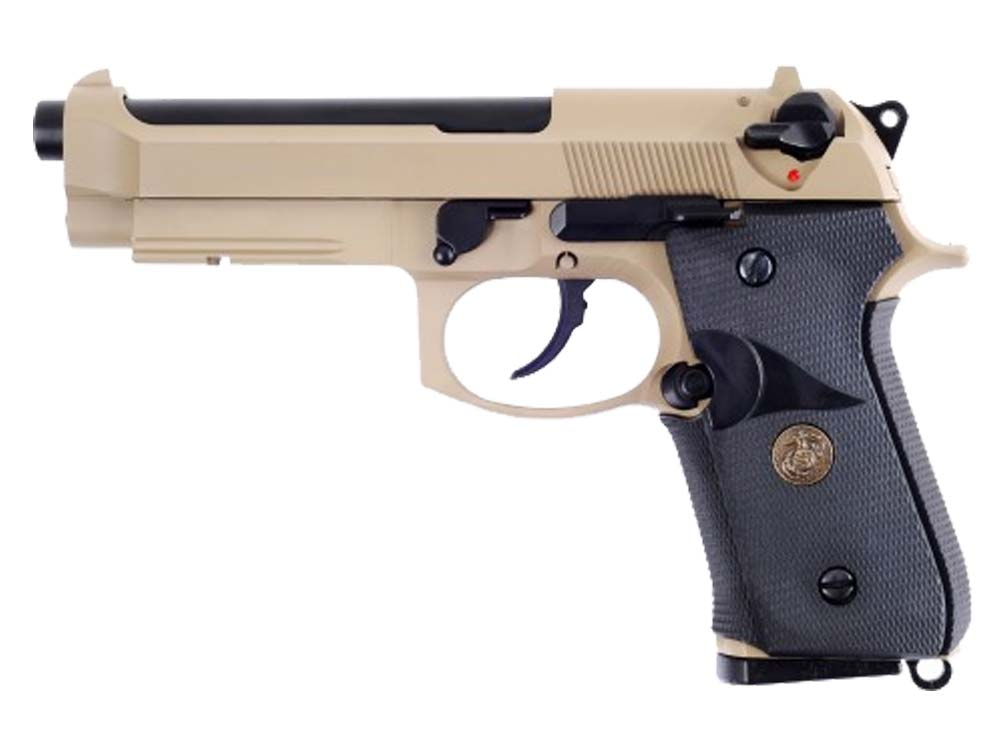 WE M9A1 TAN Full Metal Co2 6mm Blow Back Pistol