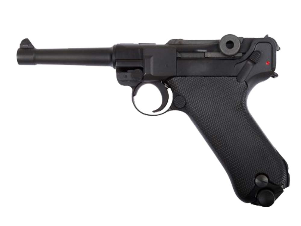 "WE Luger P08 4"" Full Metal GBB Pistol BK"