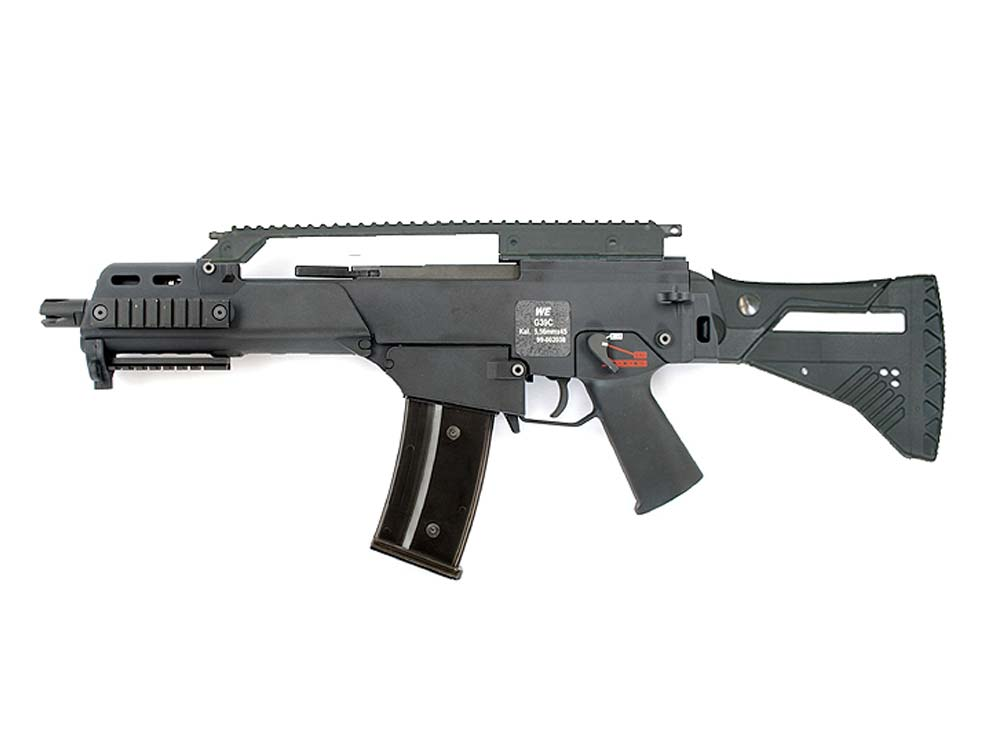 WE G39C Black Assault Rifle GBB with IDZ Stock Kit