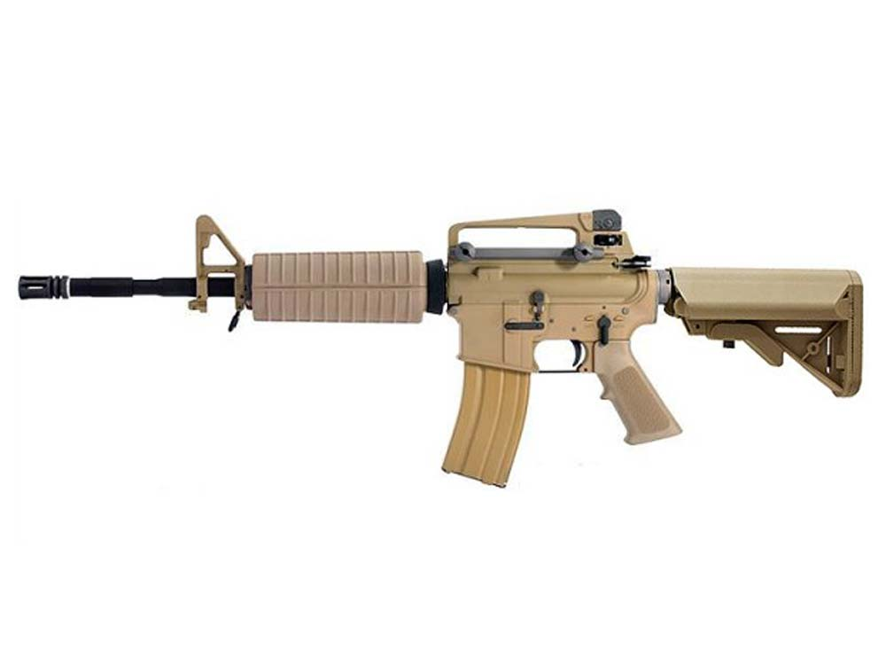 WE M4A1 TAN Open Bolt 6mm Gas Blow Back Airsoft Rifles