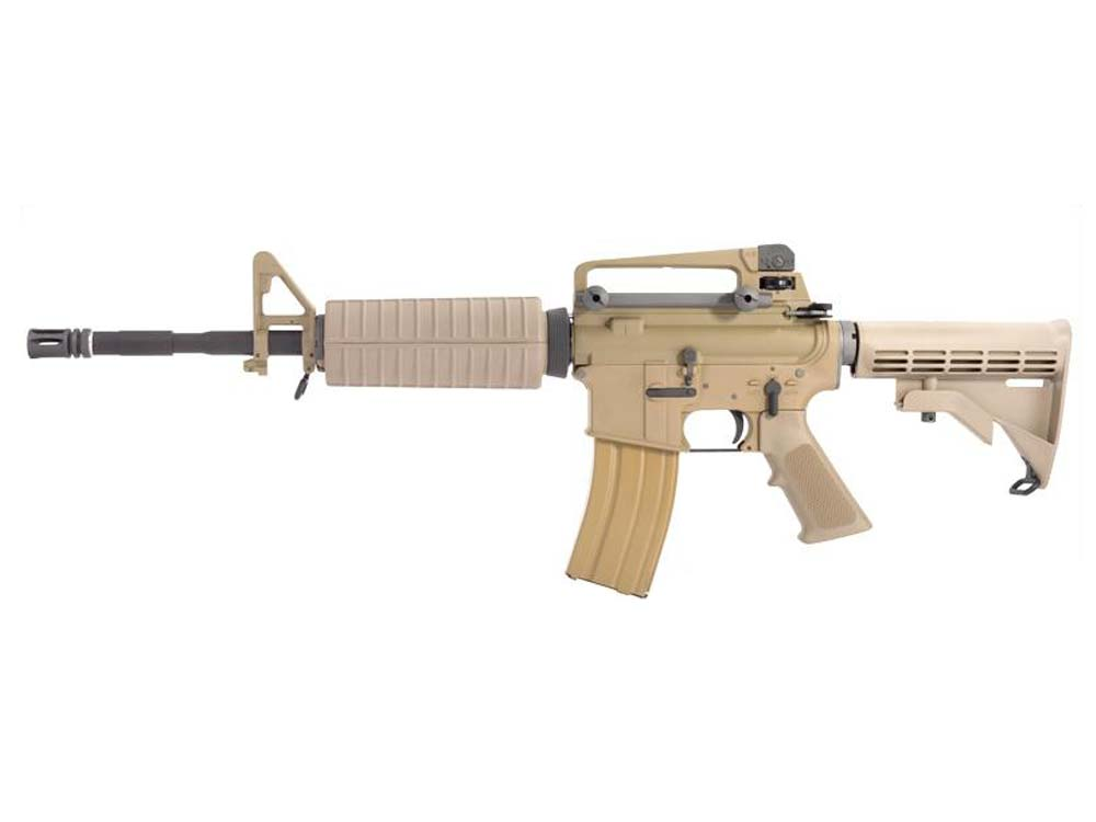 WE M16A3 TAN Open Bolt 6mm Gas Blow Back Assault Rifle