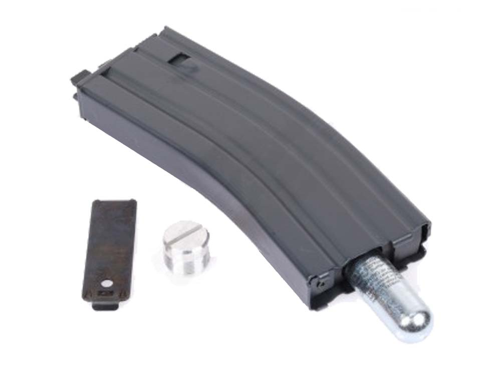 WE 30+2rd CO2 Metal Magazine for M4 Open-Bolt GBB-BK
