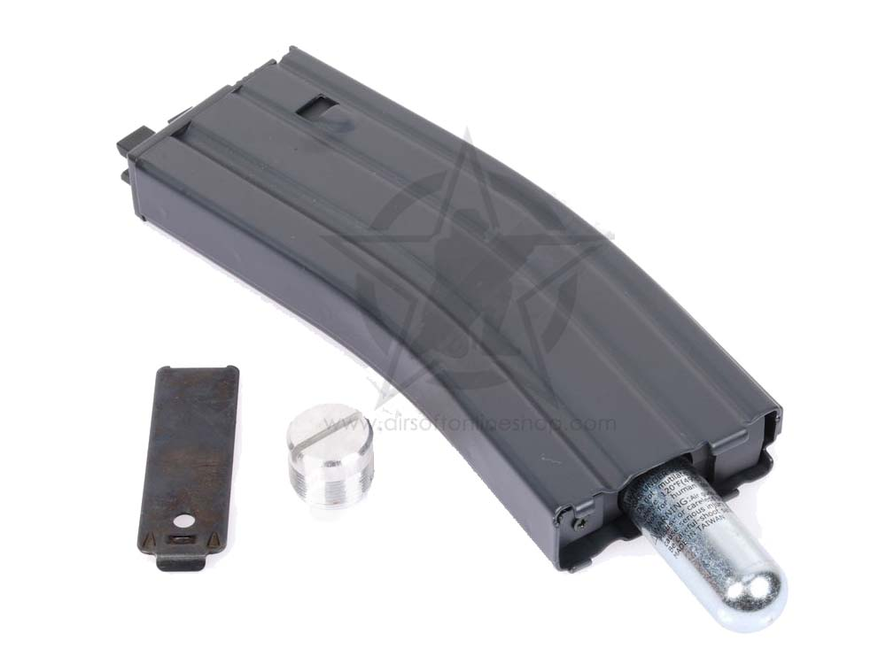 WE PDW-B Open Bolt Black Co2 Airsoft Magazine