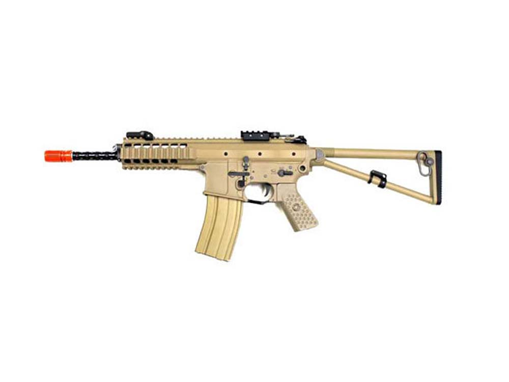 WE PDW 8 Inch TAN Open Bolt 6mm Gas Blow Back Airsoft Rifles
