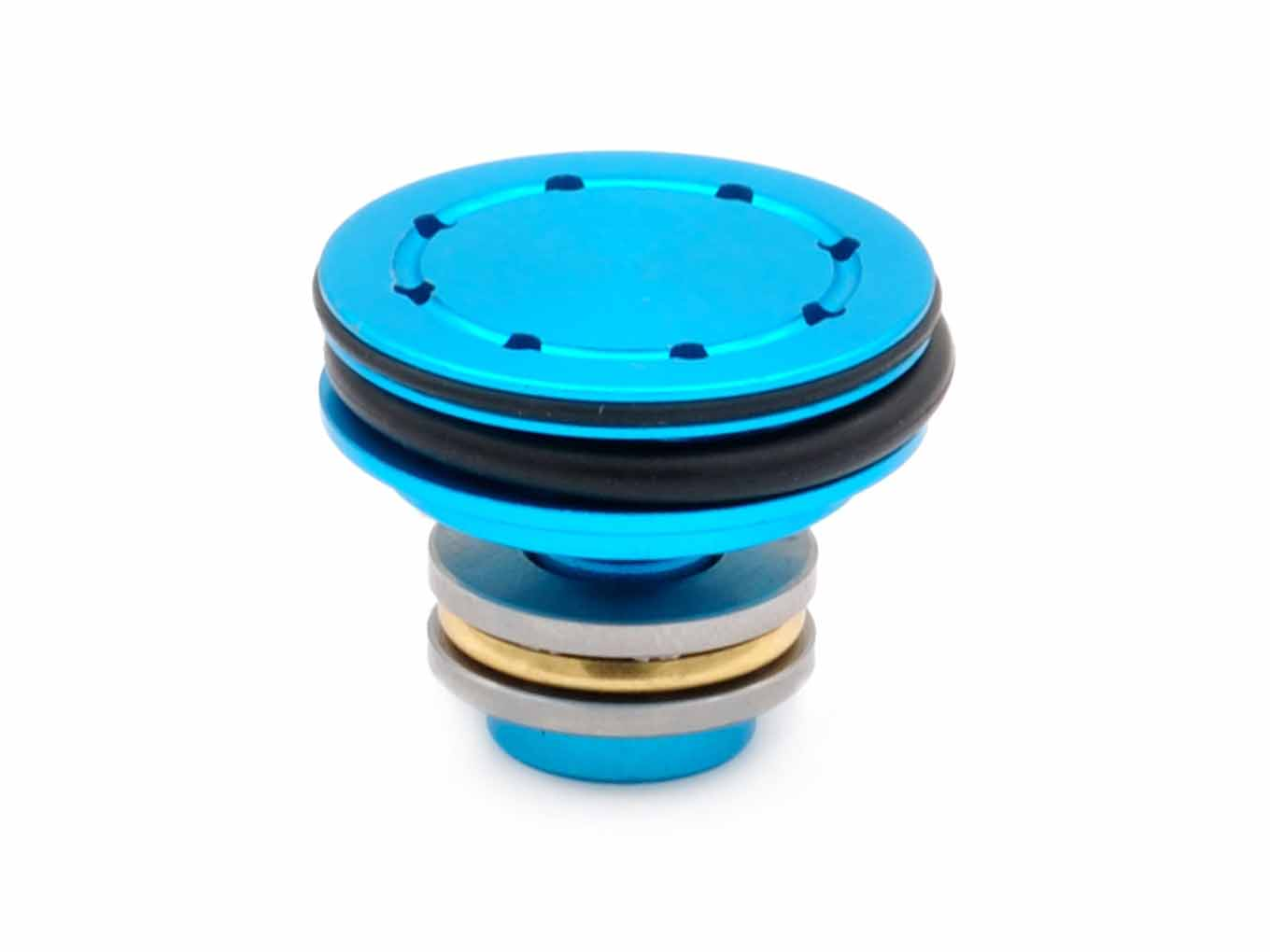 AOLS Piston Head with ball bearing Double O Ring - Blue