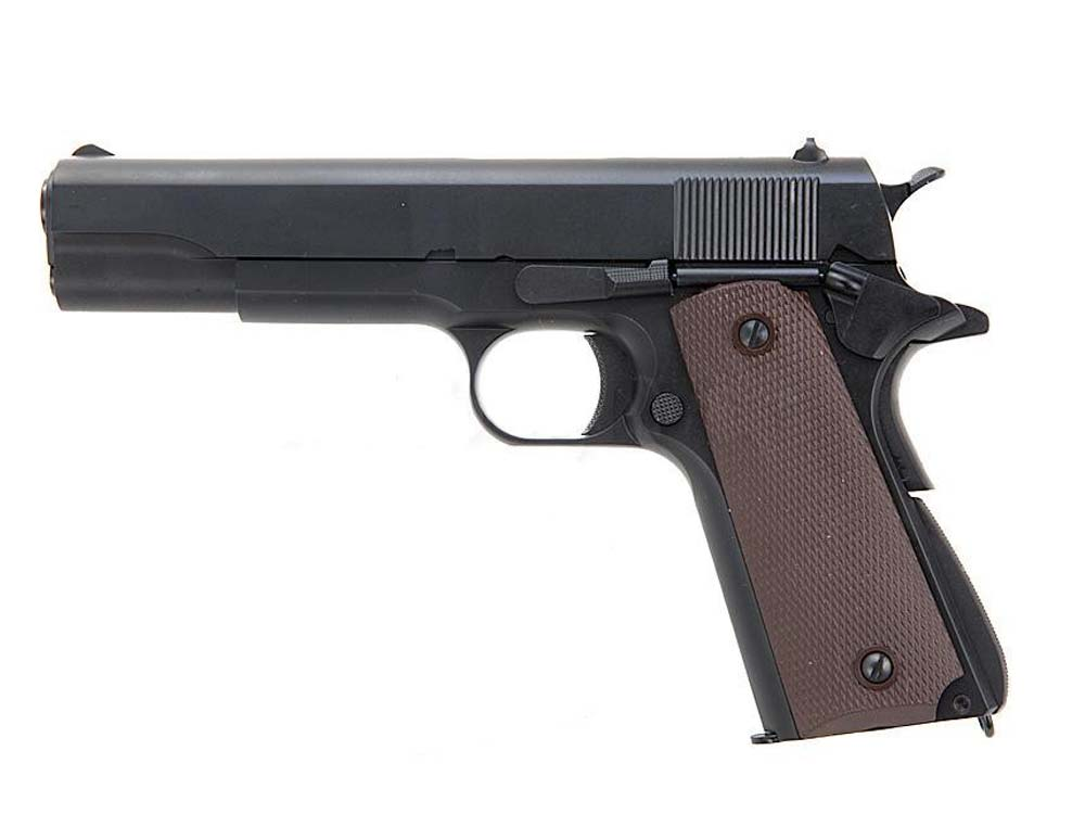 KJW Gas Full Metal M1911 Single Stack GBB Airsoft Pistol